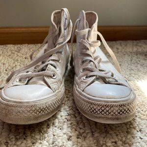 Converse all white shoes